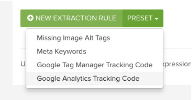 DeepCrawl new extraction rule