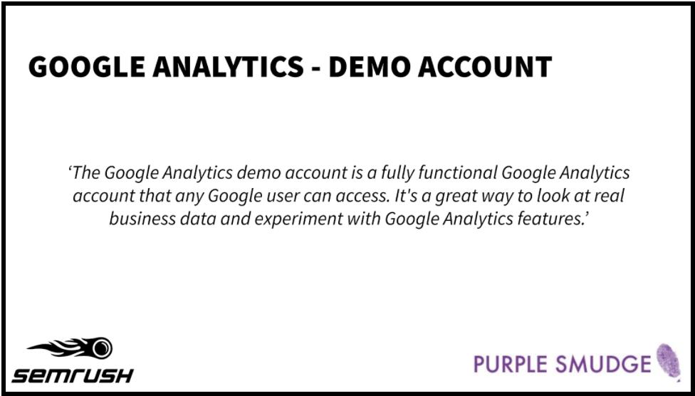 Google Analytics Demo Account Definition